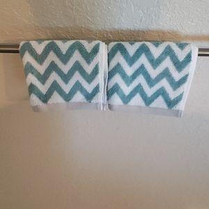 Martha Stewart Blue/White Wash Rags Set of Two